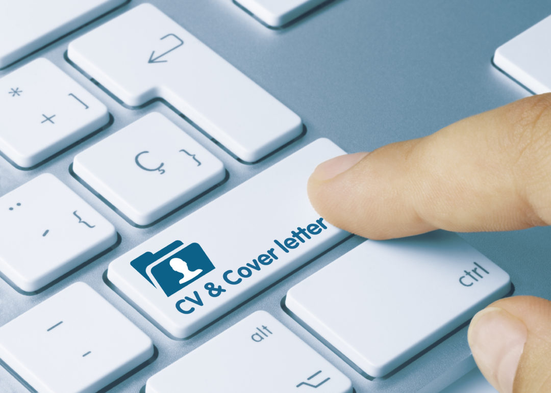 cover letter button on keyboard digital job application