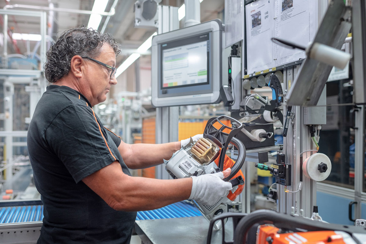 Worker at Stihl Factory